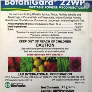 BotaniGard 22 WP-Beauveria bassiana Controls whiteflies / more 18g Exp 9-30-2021