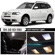 13 pcs White Error Free Interior LED Light Package Kit Fit 2004-2010 BMW X3 E83