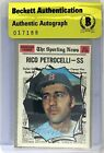 Rico Petrocelli Signed 1970 Topps #457 Card Beckett BAS BGS COA Red Sox Auto