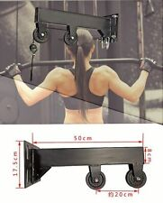 Pulley System Wall Mounted Home Gym Cable Machine Workout Arm Biceps With Handle