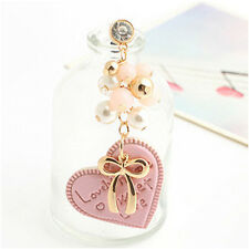 [Habeebuy] Korea Style Candy Heart With Bow Mobile Dust Plug