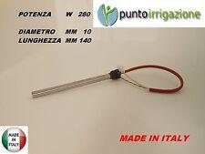 """Candeletta accensione STUFA PELLET resistenza D. 10 x 140 280W A VITE 3/8"""" GAS"""