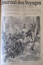 JOURNAL DES VOYAGES N° 877 de 1894 AFRIQUE MISSION MIZON  PRINCESSE D ABYSSINIE