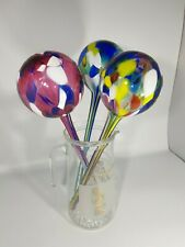 VINTAGE Murano Style Glass Ball ornaments