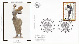 Enveloppe 1er jour FDC Soie 1999 - Conseil de l'Europe Art - Niké Petras Mazuras