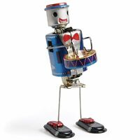 "TINPLATE TOY "" ROBOT DRUMMER """