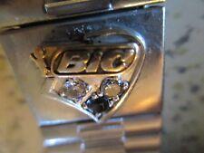 WATERMAN BIC PEN CO. EXECUTIVE WATCH CHARM, SILVER,GOLD,2 DIAMONDS,1 SAPPHIRE
