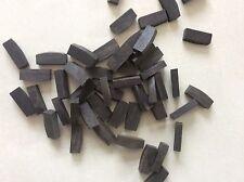 50pcs violin fingerboard nuts,natural ebony