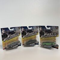 The Fast & Furious Bundle X3 Collectable Die Cast Cars No. 4 5 & 23 1:64 Scale