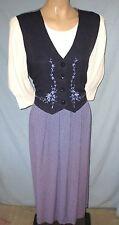 Vintage Peri Petites Vest Dress Size 12P Career or Social