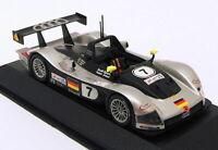 Minichamps 1/43 Scale Model Car 20000000806 - Audi R8R - Silver Black