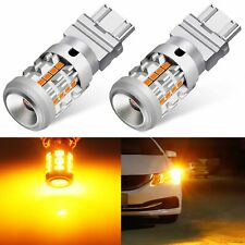 JDM ASTAR 2x 3157 3156 Amber Yellow 26 SMD LED Turn Signal Lights Bulbs Canbus