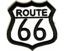 ROUTE 66 PATCH 4 BIKIE BIKER VEST SCOOTER MOTORCYCLE EMBROIDED JACKET SHIRT CAP