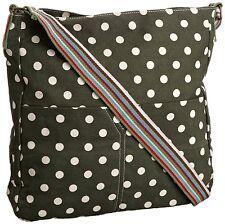 Designer SwankySwans Kirsty Polka Dots Green Shoulder Crossbody Canvas Bag BNWT