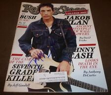 JAKOB DYLAN SIGNED ROLLING STONE #852 OCTOBER 26, 2000 THE WALLFLOWERS MAGAZINE