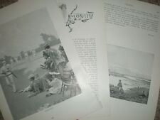 Article and George Roller print on Cricket 1897
