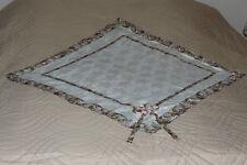 shabby Tagesdecke Steppdecke Bettüberwurf,Rosenmuster beige-braun 210 x 240 cm