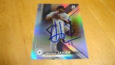 Cristian Javier Astros Auto Sign Autograph 2019 Bowman Platinum Top Prospect crd