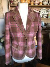 Joules Grandstand Truffle Tweed Wool Blazer Jacket  UK Size 12