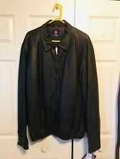 Men Authentic Chaps 100% Leather Jacket Coat Size XLT