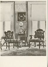 POSTCARD / CARTE POSTALE PHOTO WALTER EVANS THE PARLOR CHAIRS  / CAT CHAT