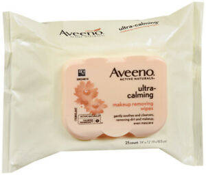 Aveeno Makeup Remover Wipe Ultra Calming 25 Ct