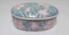 Vintage Serenade Trinket Box Otagiri JAPAN - VGC - Pink & Green Floral