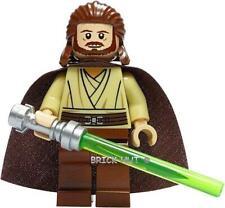 LEGO STAR WARS - QUI-GON JINN FIGURE + LIGHTSABER  + GIFT - 7961 - 2011 - NEW