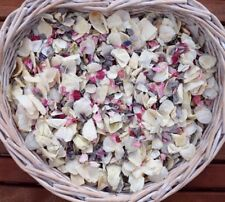 Biodegradable Wedding Confetti Natural Petal Pink Grey/ Silver Ivory 1 Litre Eco