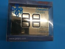 Get ultimate flatplate double electronic dimmer 2 gang 2 way 300W polished brass