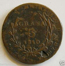 e978 ITALY Naples & Sicily 3 Grana 1810 Joachim Murat - good grade