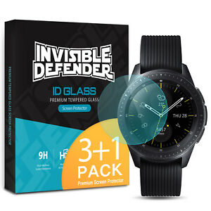 Samsung Galaxy Watch HD Tempered Glass Protector, Ringke 9H Clear Shield [4Pack]