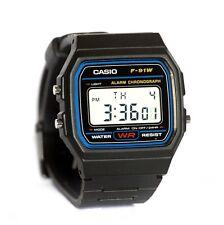 RELOJ CASIO F-91W-1YER -clásico, digital, cronometro, alarma, resistente al agua