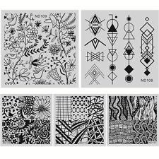 5 Pcs/Set Nail Art Stamp Plate Polish Printing Manicure Template DIY ND106-110