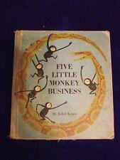 Five Little Monkey Business (1965 HC) Juliet Kepes