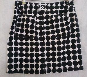 JoFIT White & Black Polka Dot Athletic Golf Skort Medium Skirt Size 8