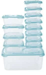 Food Storage Containers Set ERNESTO 13 Pack Suitable for Dishwasher Freezer