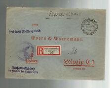 1942 Germany Grosshartsmanndorf Cover Leader of Labor Concentration Camps KZ
