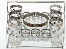 Set of Sterling Silver Polka-dot Pattern Glassware