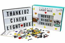 A4 Vintage Cinematic Light Up Sign Box w. Led 196 Letters, Numbers Symbol Emoji