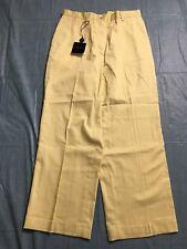 Burberry Golf Capri Pants Size 2 25x23 Yellow Cropped Stretch Mid Calf  NWT