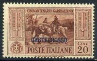Castelrosso 1932 Sass. 31 Nuovo ** 100% Garibaldi