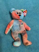 RARE Ty Beanie Baby Peace Bear Style 4053 1996 PVC Pellets And Error