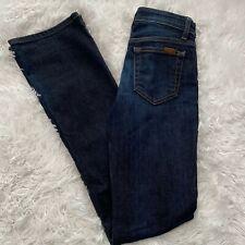 "Joe's Womens Size 25 Mid Rise Bootcut Blue Denim Jeans 34"" Inseam EUC"