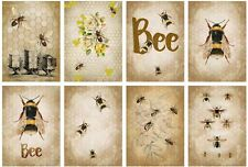 Beautiful Bee Glossy Finish Card Toppers - Crafts Embellishment