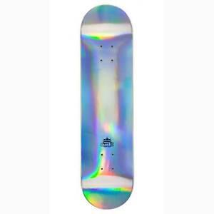 """Sushi Pagoda Foil Skateboard Deck, Silver 8"""""""