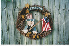 WOOD CRAFT AMERICANA UNCLE SAM FLAG PATTERN #609 PATTERN ONLY