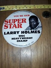 *REDUCED* 1980s HEAVYWEIGHT CHAMPION BOXER LARRY HOLMES BOXING PIN PINBACK BADGE