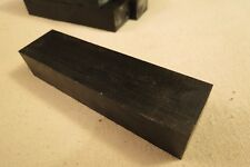 "EBONY KNIFE SCALE BLOCK  1 1/4"" - 1 3/8"" X 5"" X 7/8""  DRY AND READY TO USE"