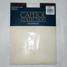 VINTAGE CAPITOL COLLECTION SILKY LYCRA SHEER PANTYHOSE WHITE